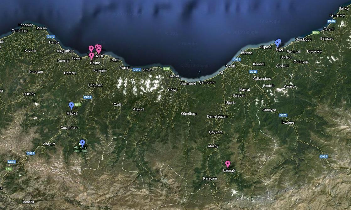Mapa Mar Negro
