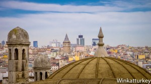 View of Istanbul from the mosque of Suleiman the Magnificent