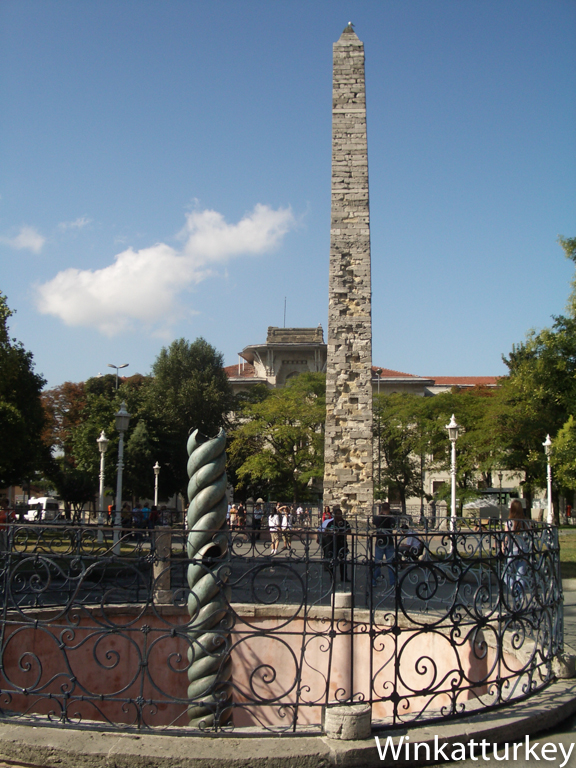 Column of Constantine snakes and obelisk