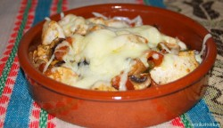 Mushrooms and chicken casserole