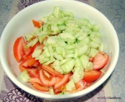 Preparation çoban salata