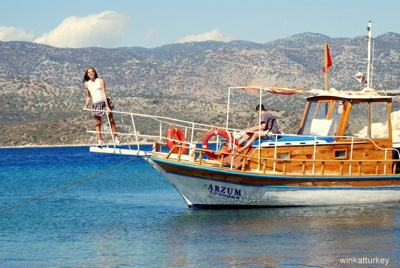 Rented boat in Kekova