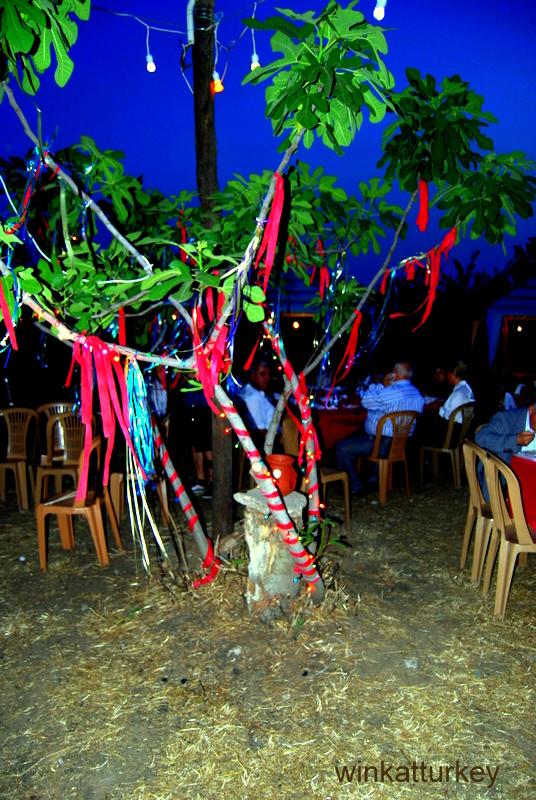 Arbol decorado para la ocasión